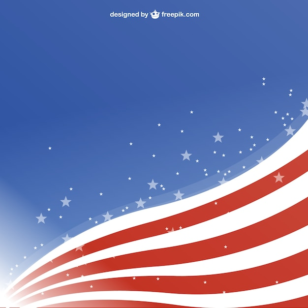 waving usa flag background vector free download
