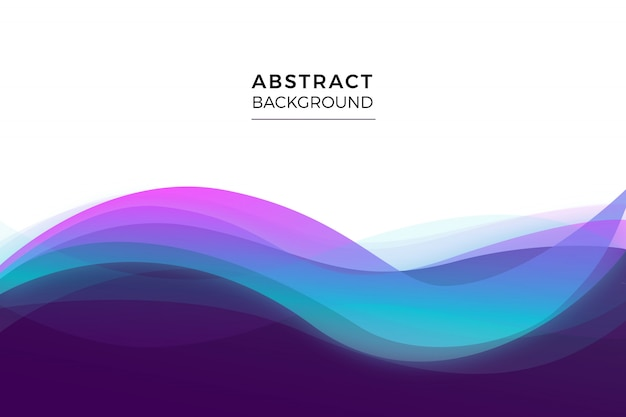 Wavy abstract background Free Vector