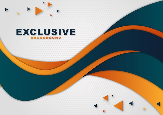 Wavy abstract background Premium Vector