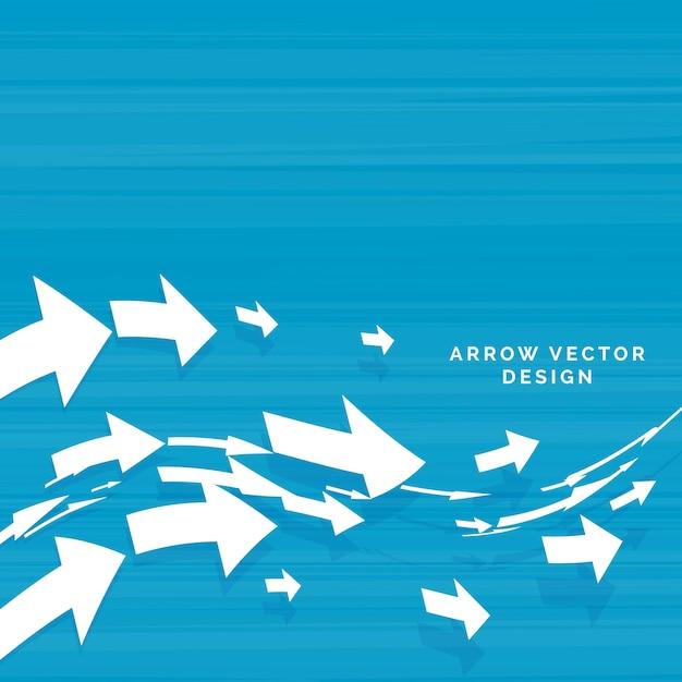 Wavy arrows moving forward concept design Free Vector