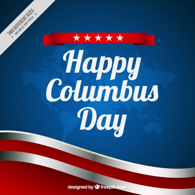 Wavy background of columbus day Free Vector