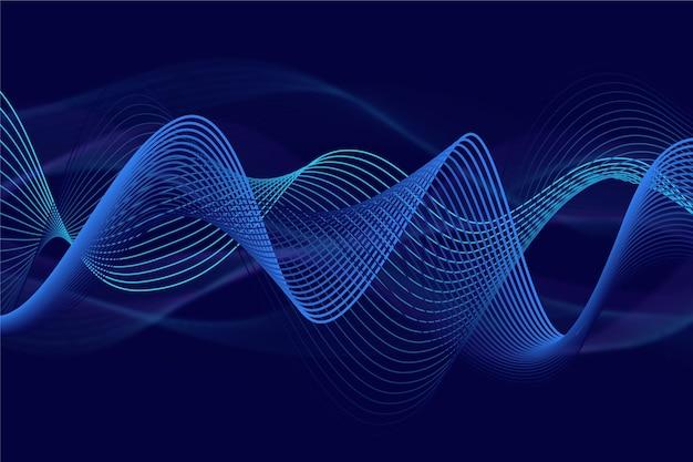 Волнистый фон игристого градиента синего Бесплатные векторы