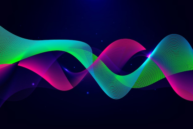 Wavy background theme Free Vector
