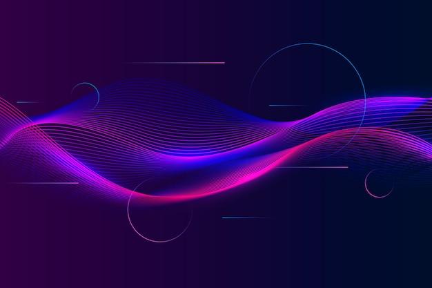 Волнистый фон фиолетово-синие пышные тени Бесплатные векторы