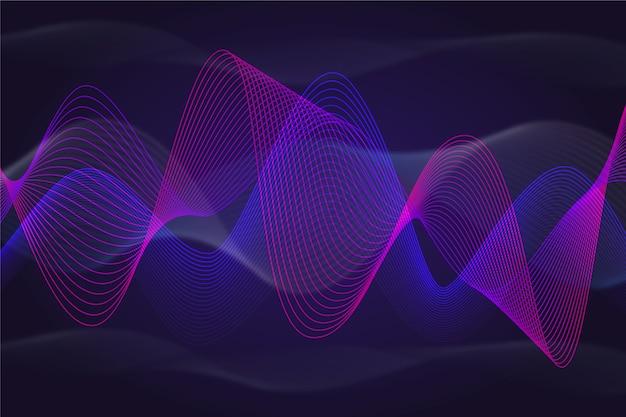 Волнистый фон фиолетово-синей динамики Бесплатные векторы
