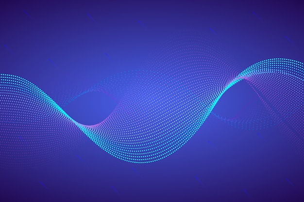 Wavy background with dots Free Vector