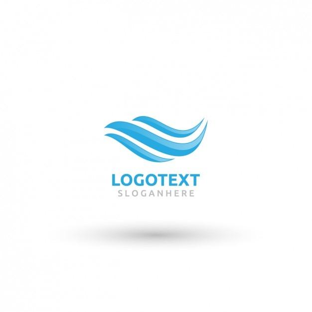 Wavy blue logo Free Vector
