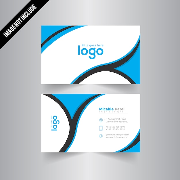 Wavy business card with one color vector premium download wavy business card with one color premium vector reheart Gallery