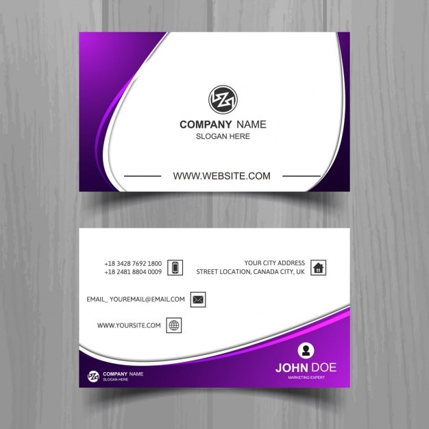 Wavy business card with purple details vector free download wavy business card with purple details free vector colourmoves Image collections