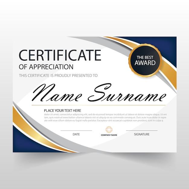 free download certificate of appreciation template