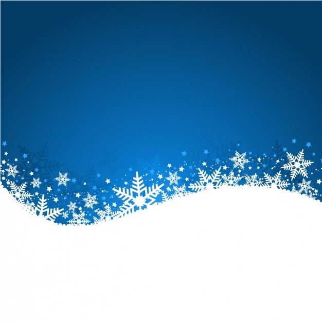 Wavy christmas background with snowflakes Free Vector