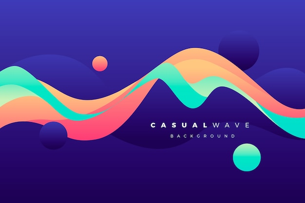 Wavy colorful background Premium Vector