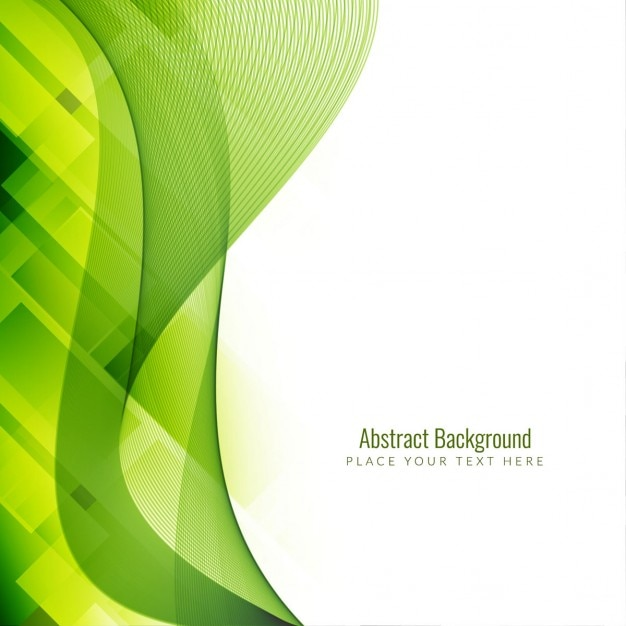 wavy green and white background vector free download