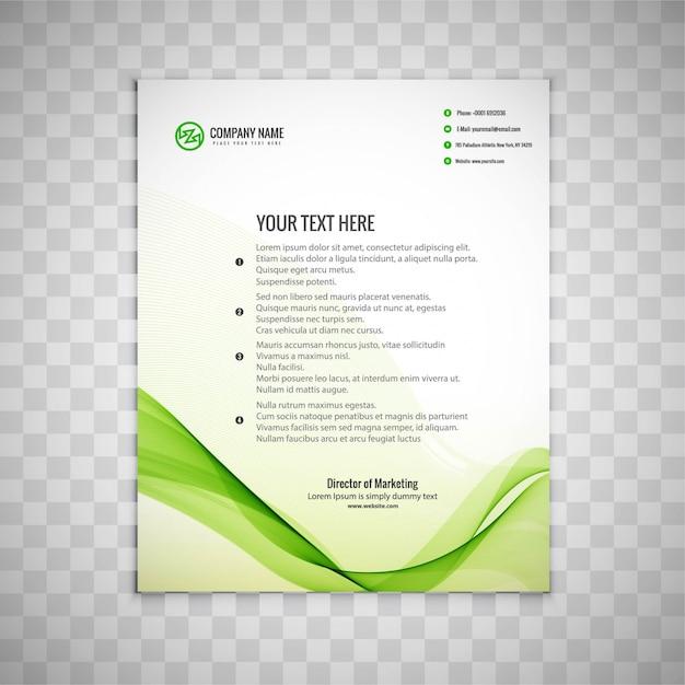 Wavy green business brochure