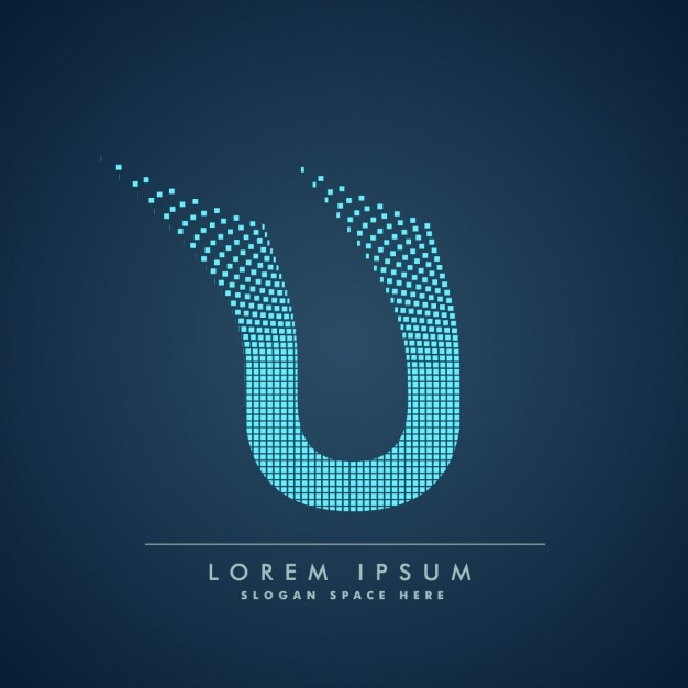 Wavy Letter U Logo In Abstract Style Vector Free Download
