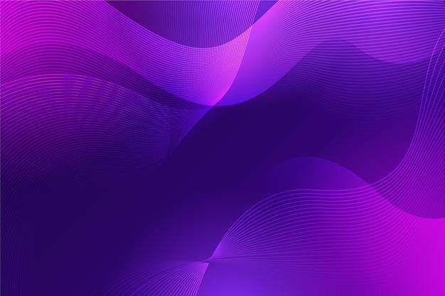 Волнистая роскошная абстракция в градиентных фиолетовых тонах Бесплатные векторы