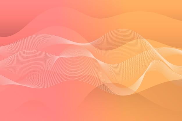 Wavy minimal lights background Free Vector