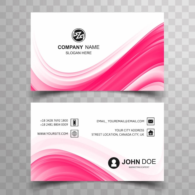 Wavy pink visiting card vector free download wavy pink visiting card free vector colourmoves