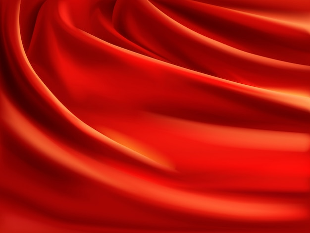 Wavy red satin Free Vector