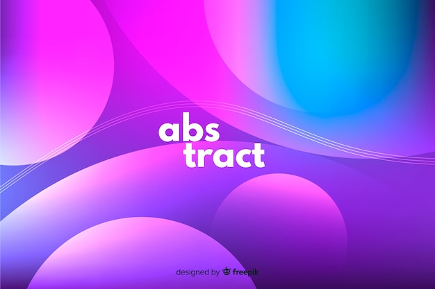 Wavy shapes background gradient style Free Vector