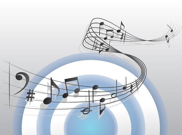 wavy sheet music Free Vector