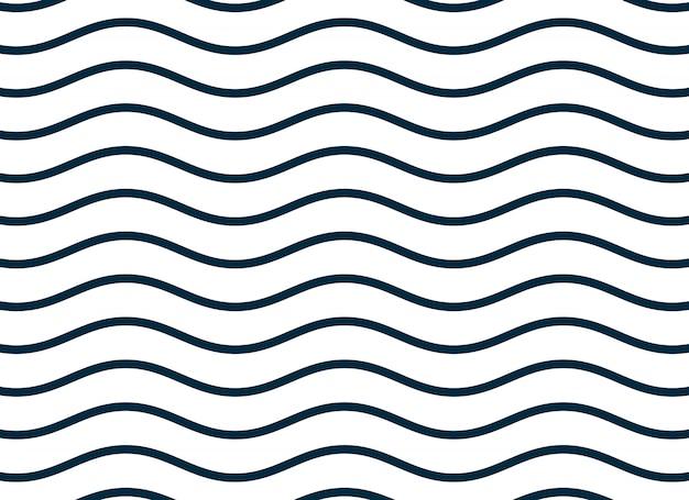 波状の滑らかなラインパターンの背景 無料ベクター
