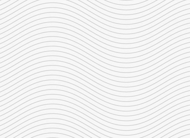 Wavy smooth lines pattern background Free Vector