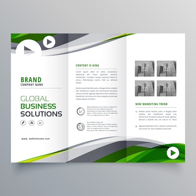Wavy trifold business brochure template vector free download wavy trifold business brochure template free vector wajeb Images