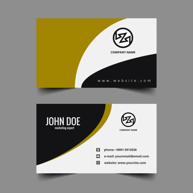 Wavy Visiting Card Template Vector | Free Download