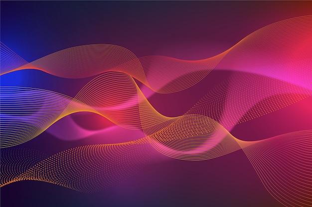 Wavy wallpaper design Free Vector