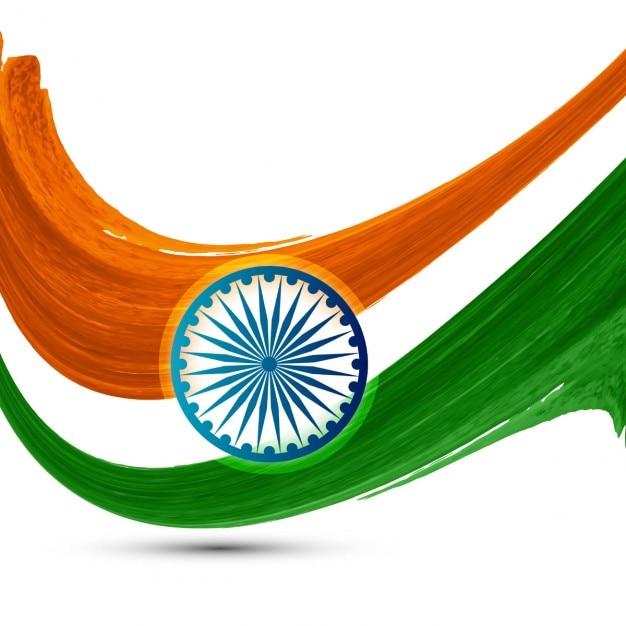 Wavy watercolor Indian flag