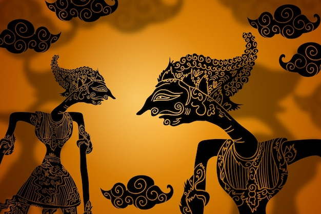 Free Vector | Wayang kulit background