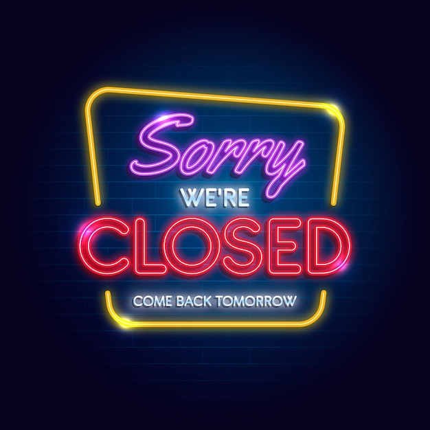 We are closed sign Free Vector