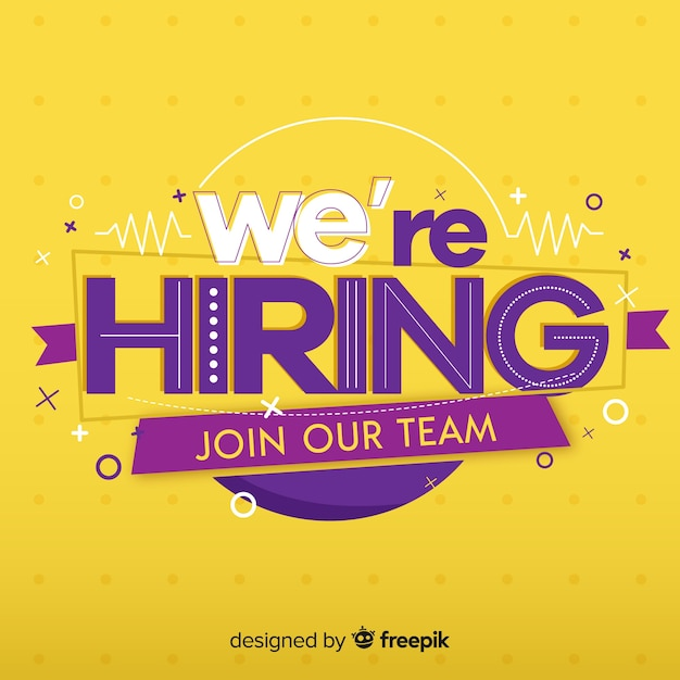 We are hiring background concept Free Vector