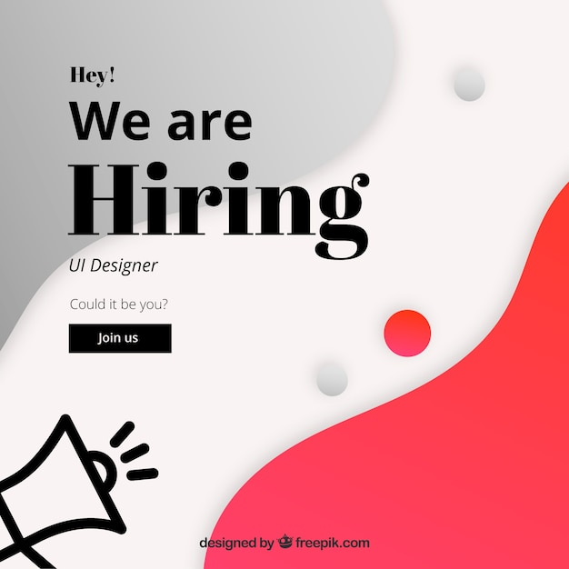 We are hiring background in flat style Premium Vector