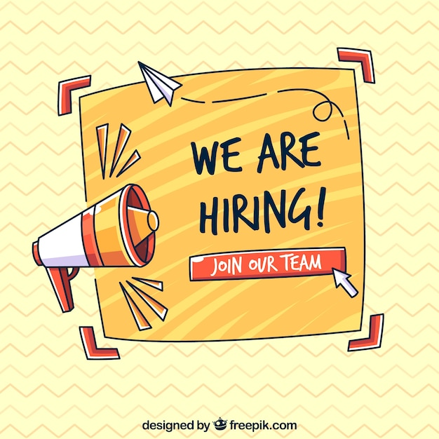 We are hiring background in flat style Free Vector