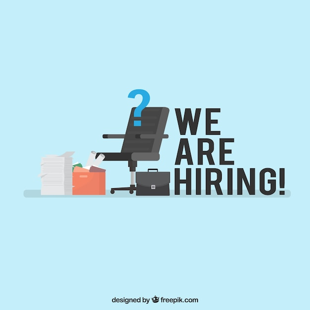 We are hiring background with elements Free Vector