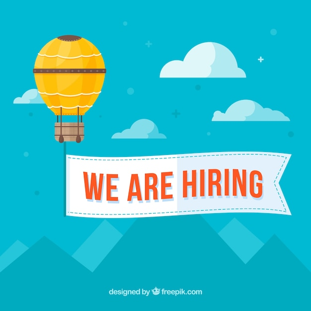 We are hiring background with landscape