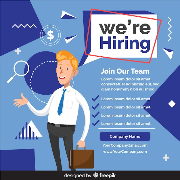 We are hiring background with team members Premium Vector