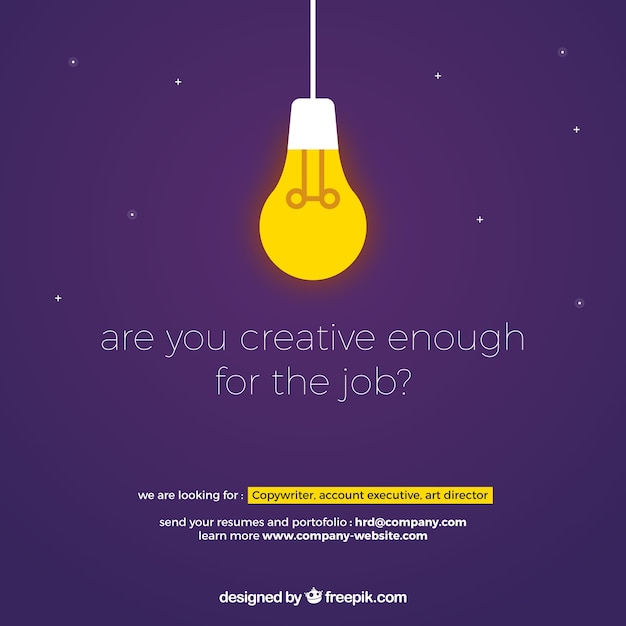 We are hiring banner composition Free Vector