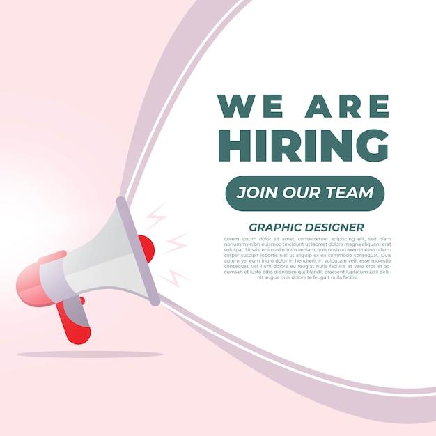 We are hiring banner design. job vacancy concept Premium Vector