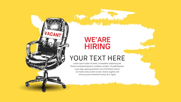 We are hiring banner Premium Vector