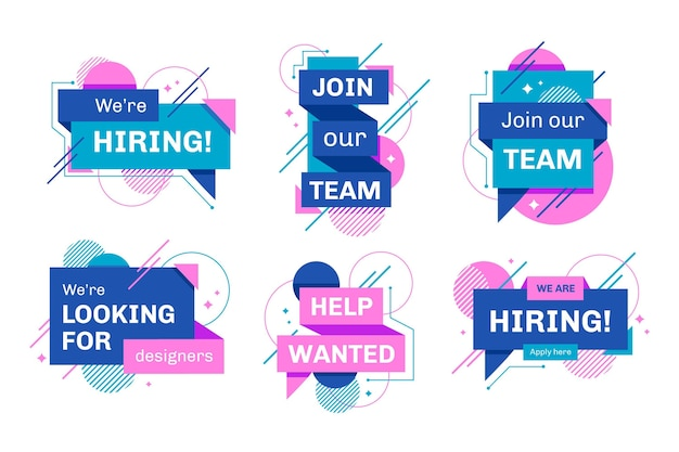 We are hiring banners Premium Vector