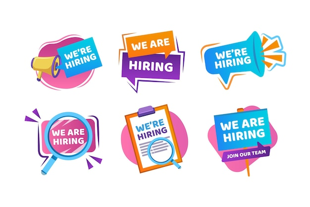 We are hiring - banners Premium Vector