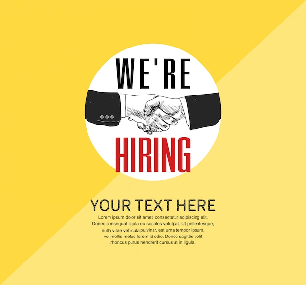 We are hiring concept poster Premium Vector
