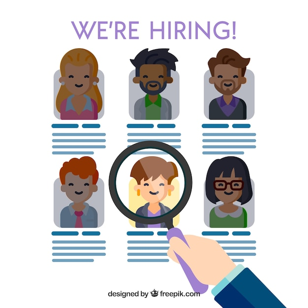 We are hiring concept Free Vector