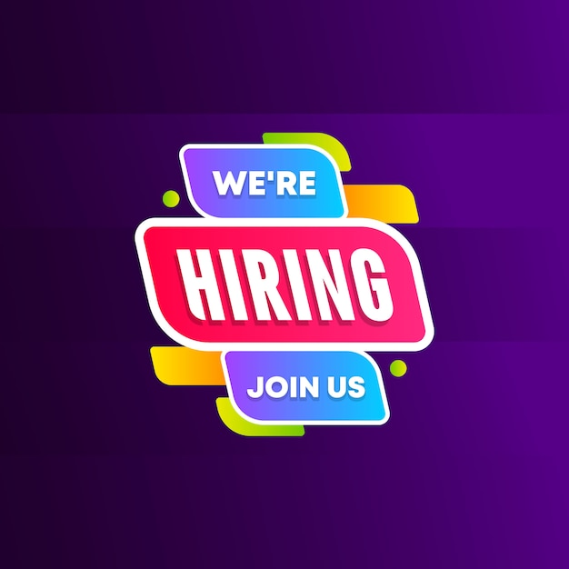 We are hiring join us Premium Vector