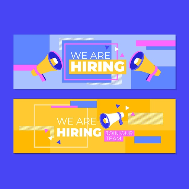 We are hiring - landing page Free Vector