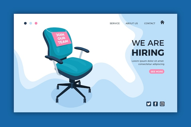 We are hiring - landing page Premium Vector