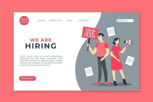 We are hiring landing page Premium Vector